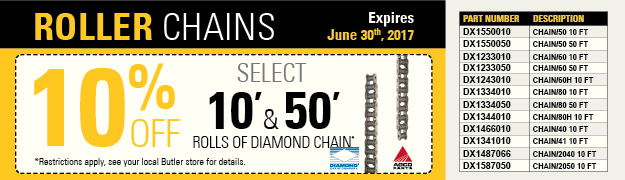 10% Off Diamond Roller Chains