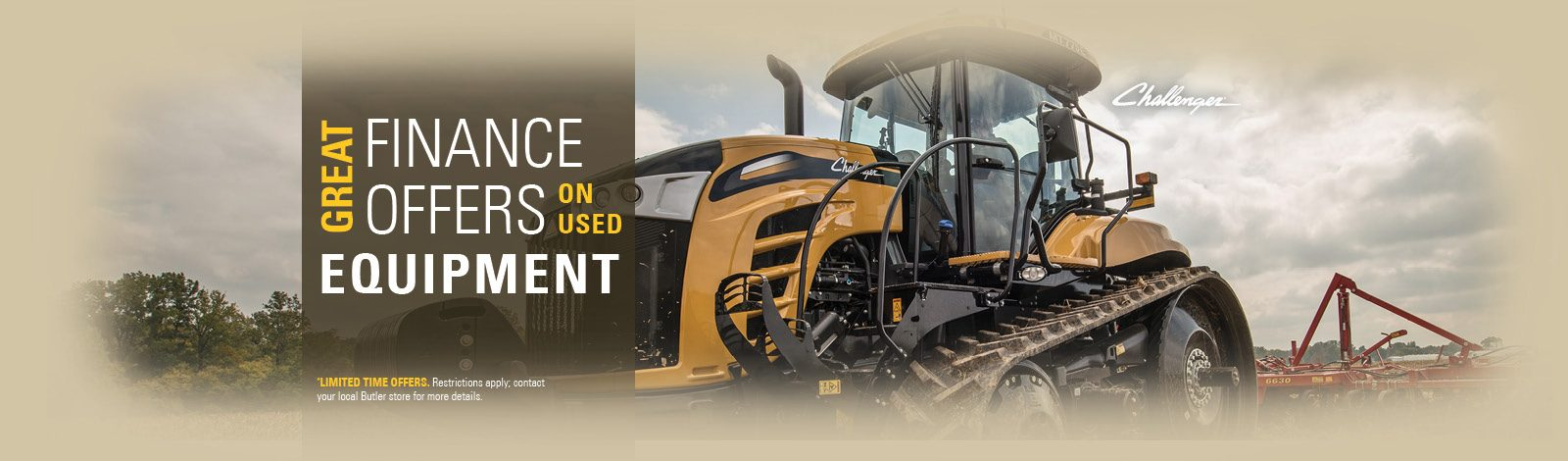 Great Finance Offers On Used Equipment