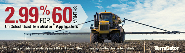 2.99% for 60 Months on Select Used TerraGators