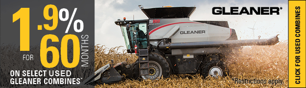 1.9% for 60 months on select used gleaner Combines