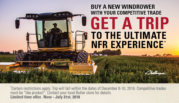 Buy a New Windrower NFR Experience