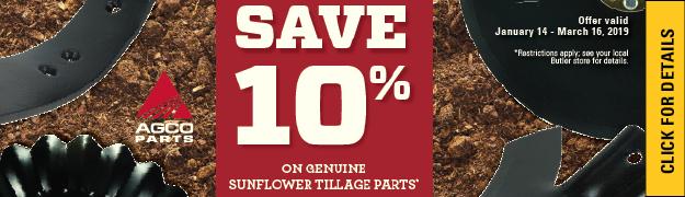 Save 10 percent tillage