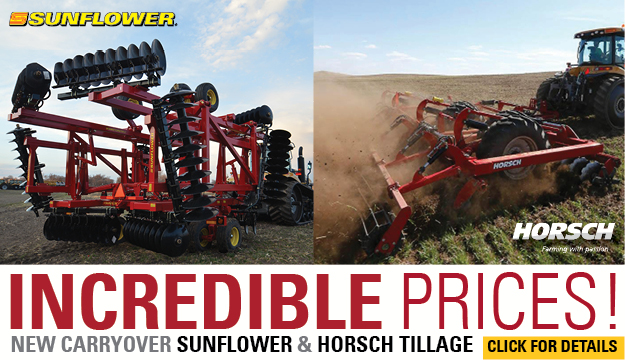 Incredible Prices New Carryover Sunflower & Horsch Tillage