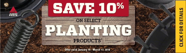 Save 10% on Select Planting Products AGCO PARTS