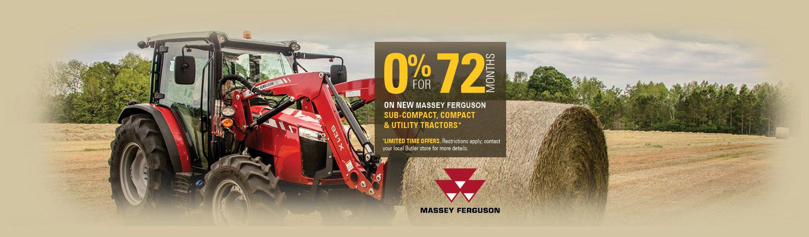 Massey Ferguson 0% for 72 Months